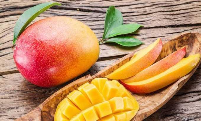 Манго богат витамином е