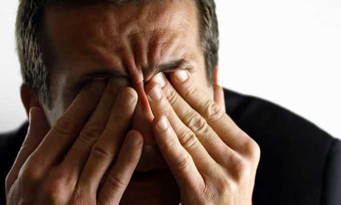 Органы чувств реагируют на медкамент сухостью слизистых оболочек глаз, конъюнктивитом