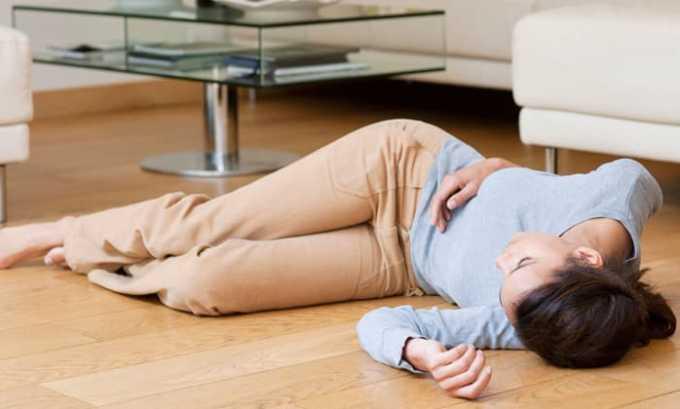 Передозировка лекарства может вызвать обморок
