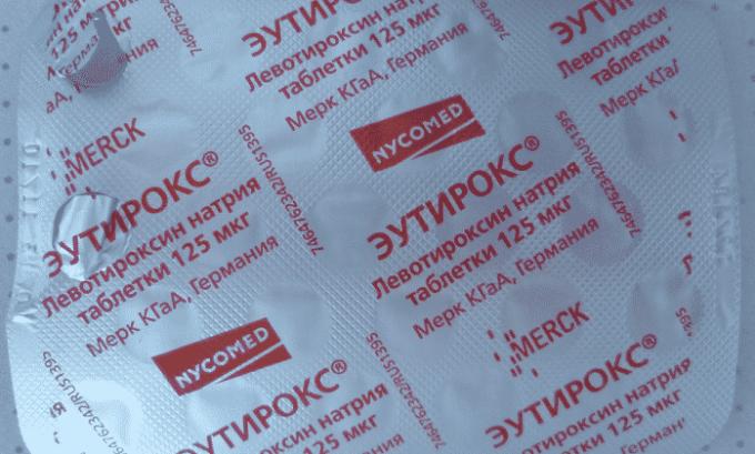 При прекращении лечения Эутироксом 125 стабильный уровень гормонов поддерживается в течение 8-10 дней