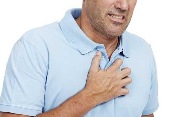 Во время терапии может появиться боль за грудиной