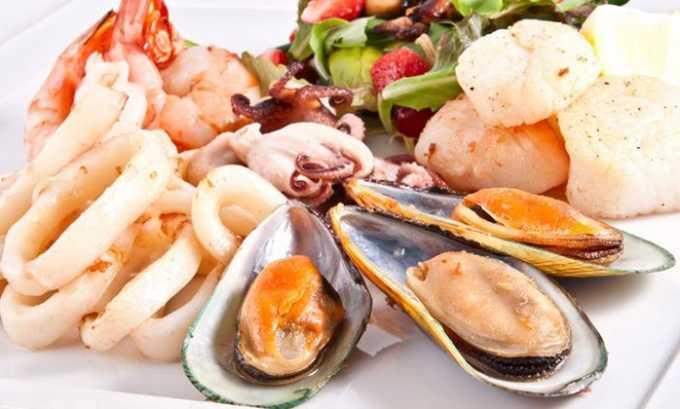 Устранить дефицит необходимого вещества можно с помощью употребления морепродуктов