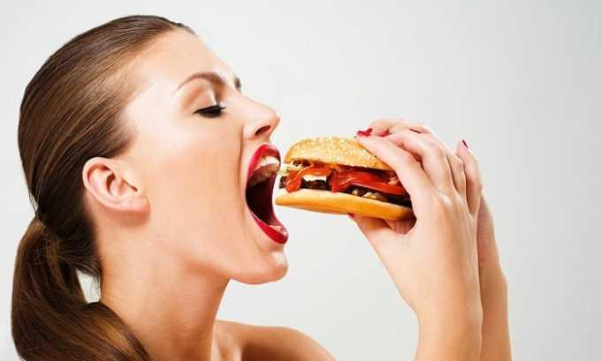 Лечение Преднизолоном может привести к усилению аппетита