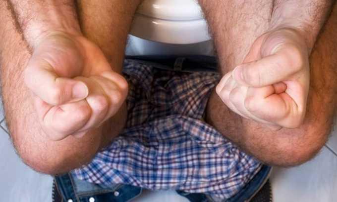 При использовании лекарства внутрь в больших количествах могут развиваться диарея