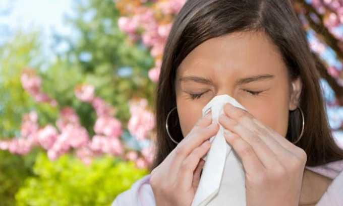 Как побочное действие может возникнуть аллергический ринит