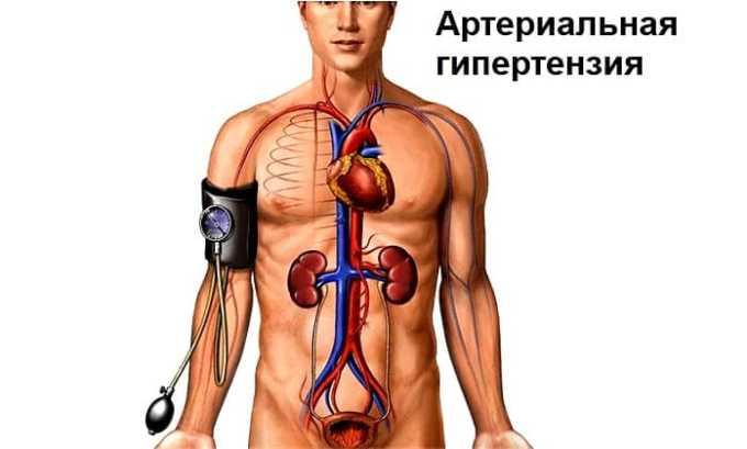 Артериальная гипертензия служит показанием к приему препарата