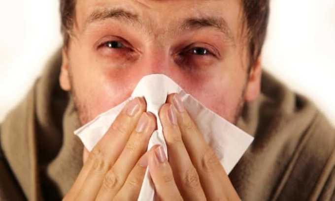 Со стороны органов дыхания нередко может развиваться воспаление слизистой носа