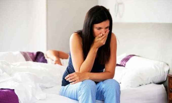 Побочное действие со стороны пищеварительной системы: тошнота