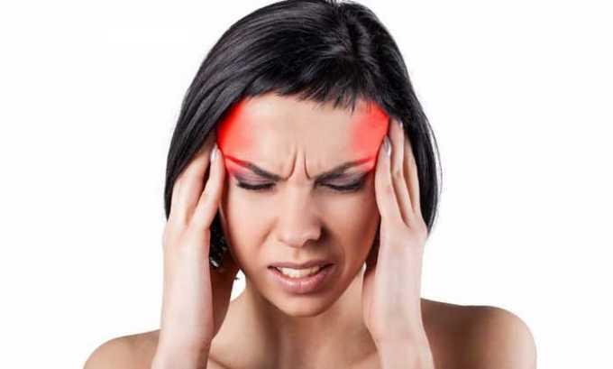 При приеме препарата часто беспокоят боли в голове