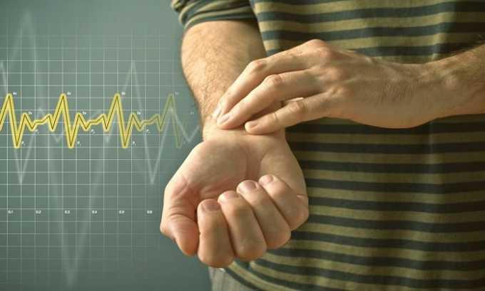 Препарат вызывает побочное явление в виде снижения ЧСС