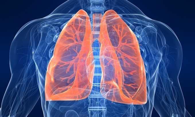 Препарат запрещен к использованию при фиброзных поражениях легких