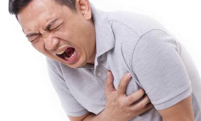 Препарат нельзя принимать при инфаркте (остром и подостром)