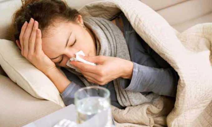 Препарат нужно использовать осторожно так как может возникнуть простуда, боль в горле