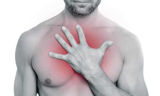 Диклофенак может вызвать боль в груди