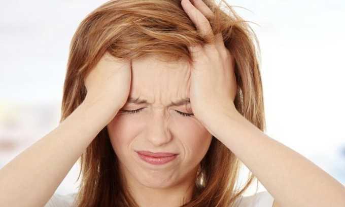 При приеме препарата может наблюдаться сильная головная боль