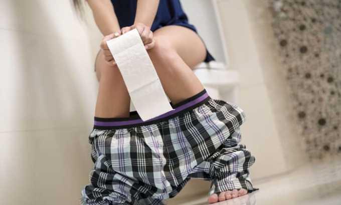 Препарат вызывает побочное явление в виде диареи