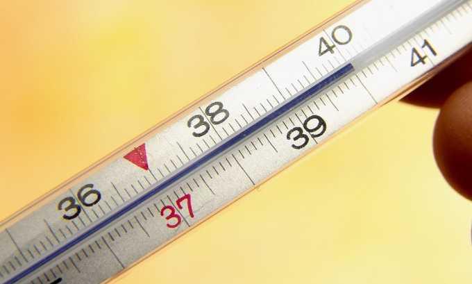 Активный компонент производит также жаропонижающий эффект