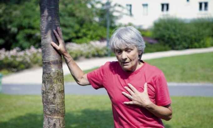 В период приема медикамента у больного может возникнуть одышка