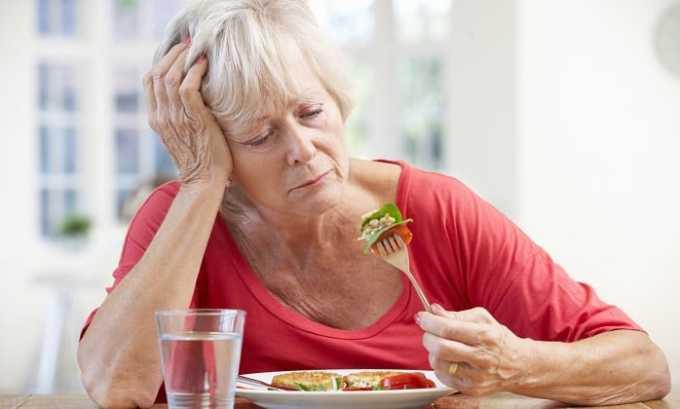 При передозировке гормоном отмечается снижение аппетита