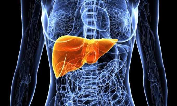 Большая часть дозы препарата метаболизируется в печени