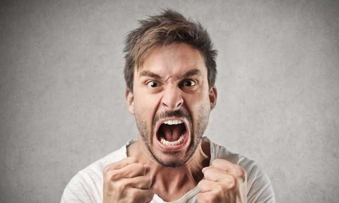 При наличии зоба человек становится агрессивным и обидчивым