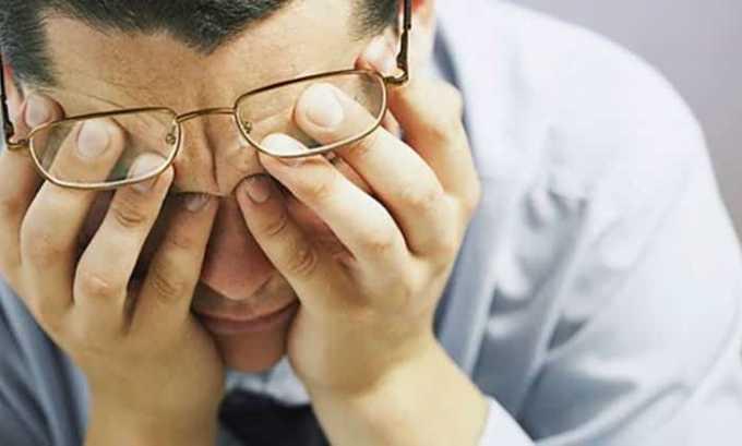 От препарата возможно появление побочного эффекта как нарушения зрения