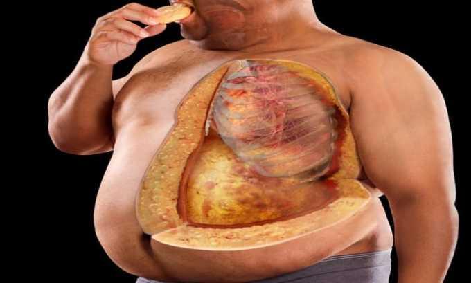 Вследствие приема препарата возможно возникновение ожирения