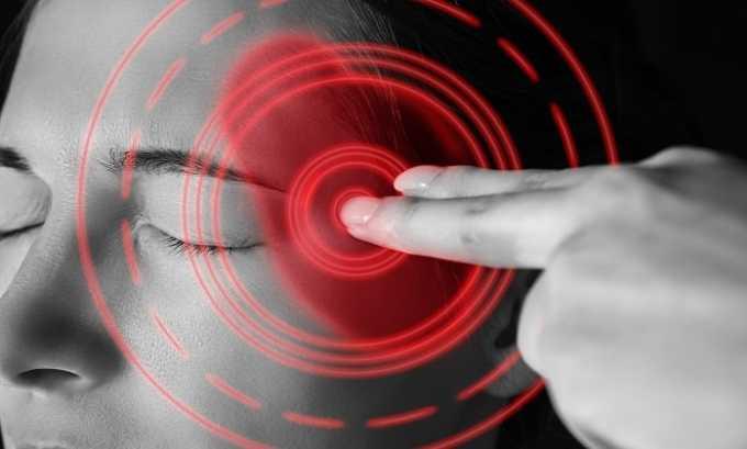 Боль в височной области - побочное действие препарата