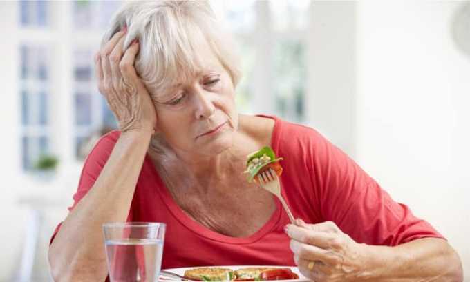 В процессе терапии у пациента может возникать потеря аппетита