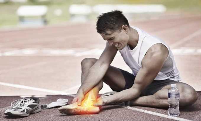 Вольтарен назначают при спортивных травмах