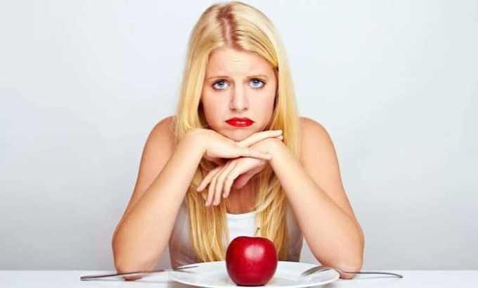 Развитие патологии влечет за собой снижение аппетита