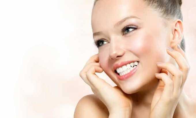 Использование препарата как добавки позволит долгое время сохранять кожу молодой