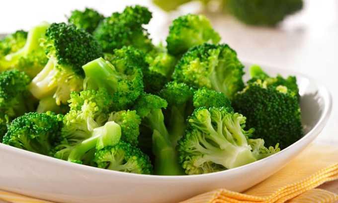 Не рекомендуется при гипофункции щитовидной железы прием в пищу продуктов, влияющих на усвояемость йода (капуста, брокколи и др