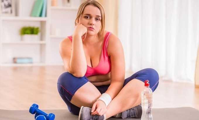 После применения Беталока 25 может быть увеличение веса