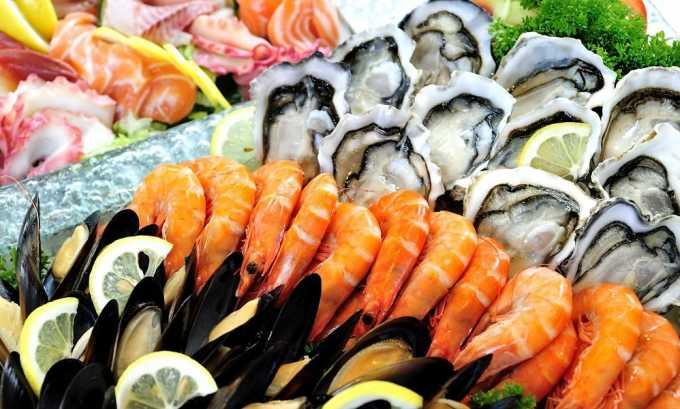Лучше всего усваивается йод с морепродуктами
