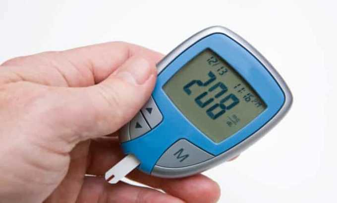 При передозировке препаратом возможно увеличение количества сахара в крови
