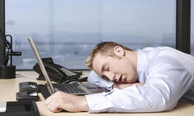 Прием препарата может вызвать усталость