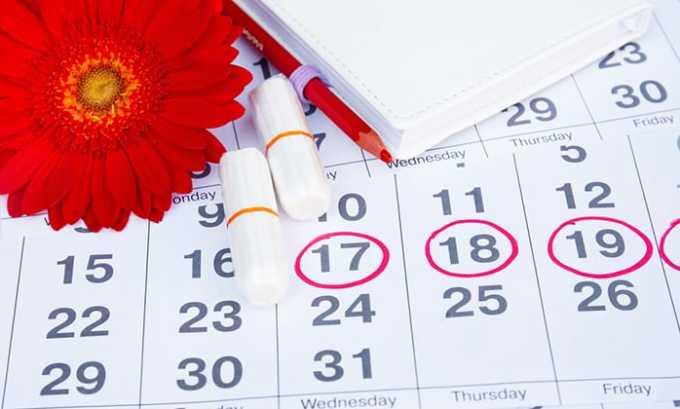 У женщин при применении лекарства в некоторых случаях сбивается менструальный цикл