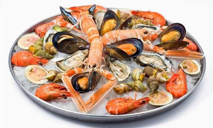 Диета при заболеваниях щитовидной железы предполагает прежде всего употребление морепродуктов