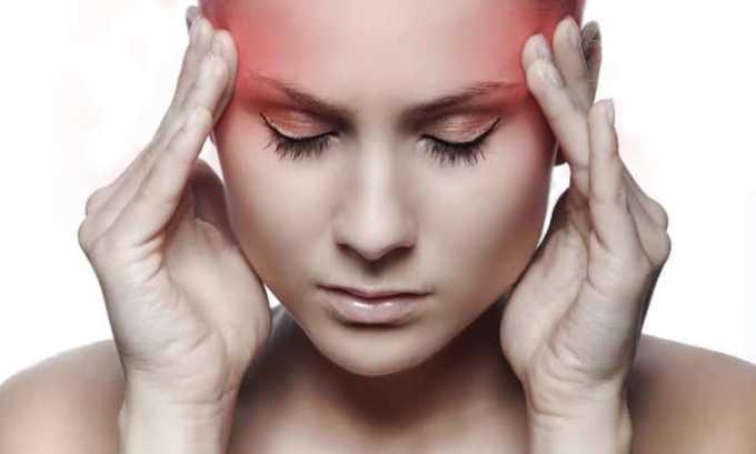 При приеме препарата возможно появление головной боли