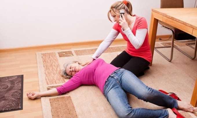 Передозировка препарата может вызвать обморок