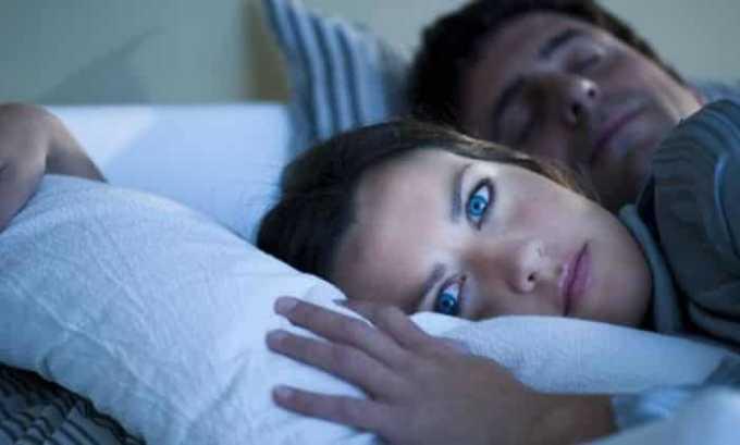 При передозировке препаратом возможно появление нарушение сна