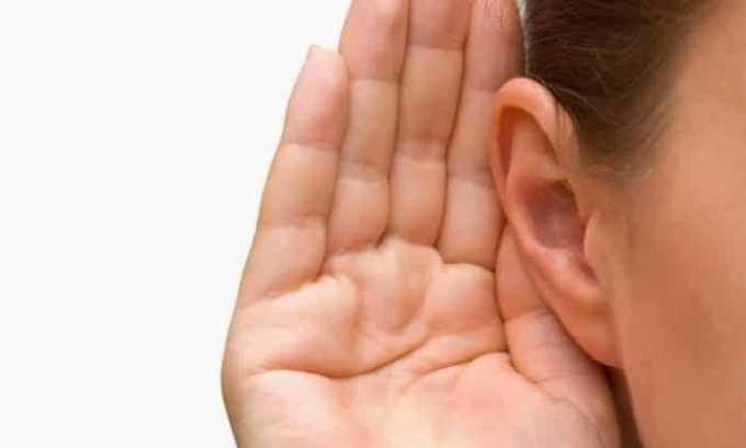 Иногда у больных нарушается слух