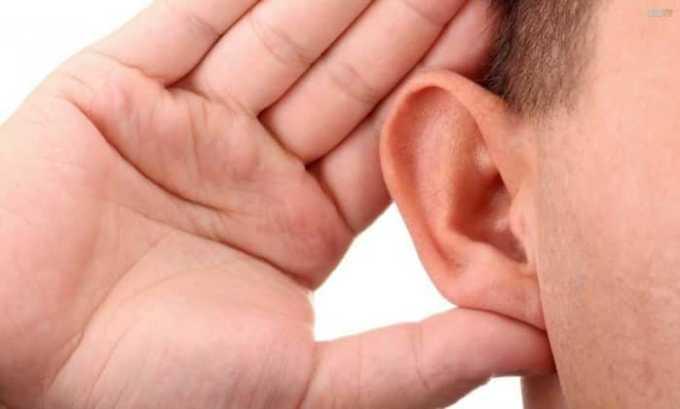 Есть вероятность нарушения слуха, снижения остроты зрения
