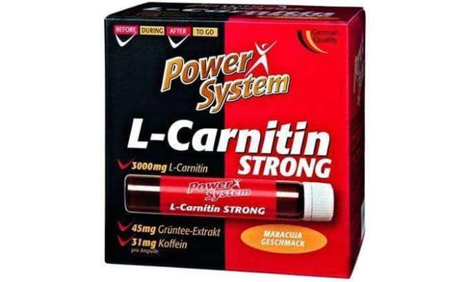 Формат L-CARNITIN STRONG содержит дополнительно цинк, в состав входят еще витамины, кофеин, экстракт зеленого чая