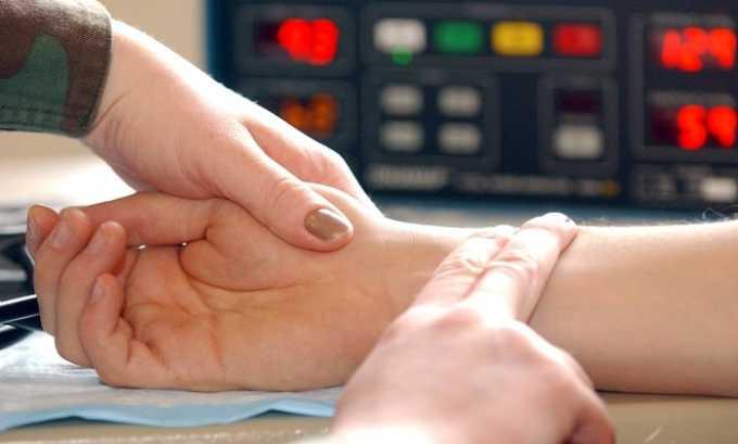 Компоненты средства уменьшают частоту пульса