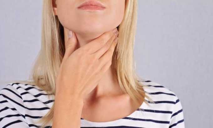 Препарат назначается при появлении выраженных симптомов тиреотоксикоза