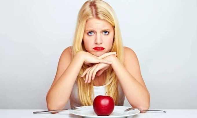 О развитии патологии говорит резкое снижение аппетита