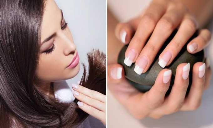 Токоферола ацетат делает ногти крепче и останавливает сечение волос