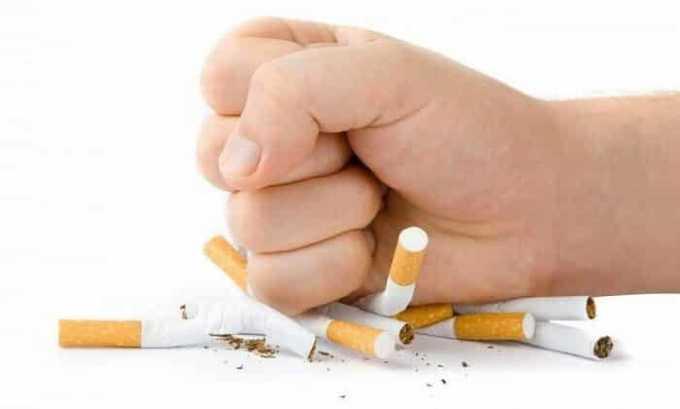 Также нужно отказаться от курения